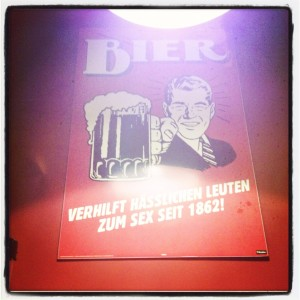 Bier Poster at Wurst und Bier