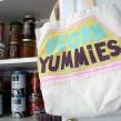 Appliqued grocery bag for vegan yummies!