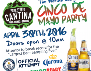 Park St Cantina Cinco Beer Tasting Guinness Record