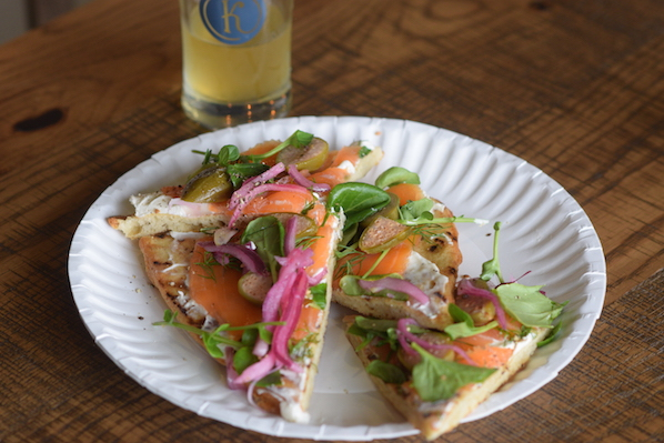 Kindred lox flatbread