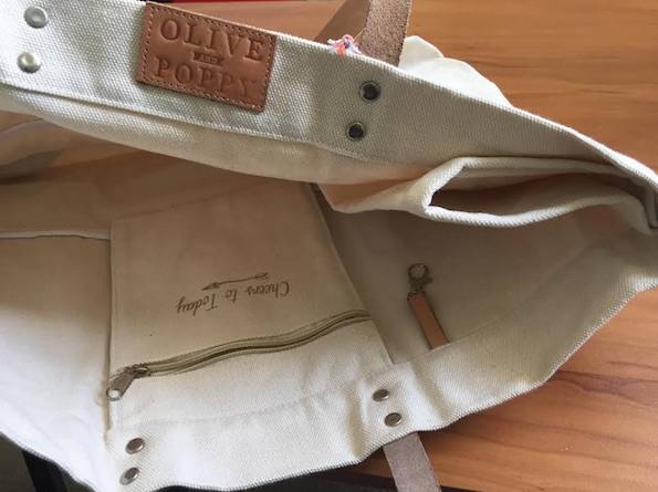 olive and pope wine tote