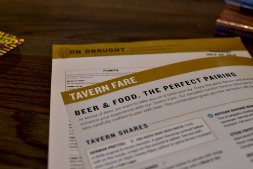 World of Beer Easton Menu