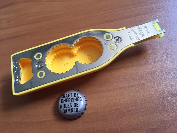 Magic bottle opener