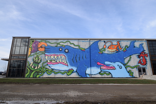 Brewdog shark mural